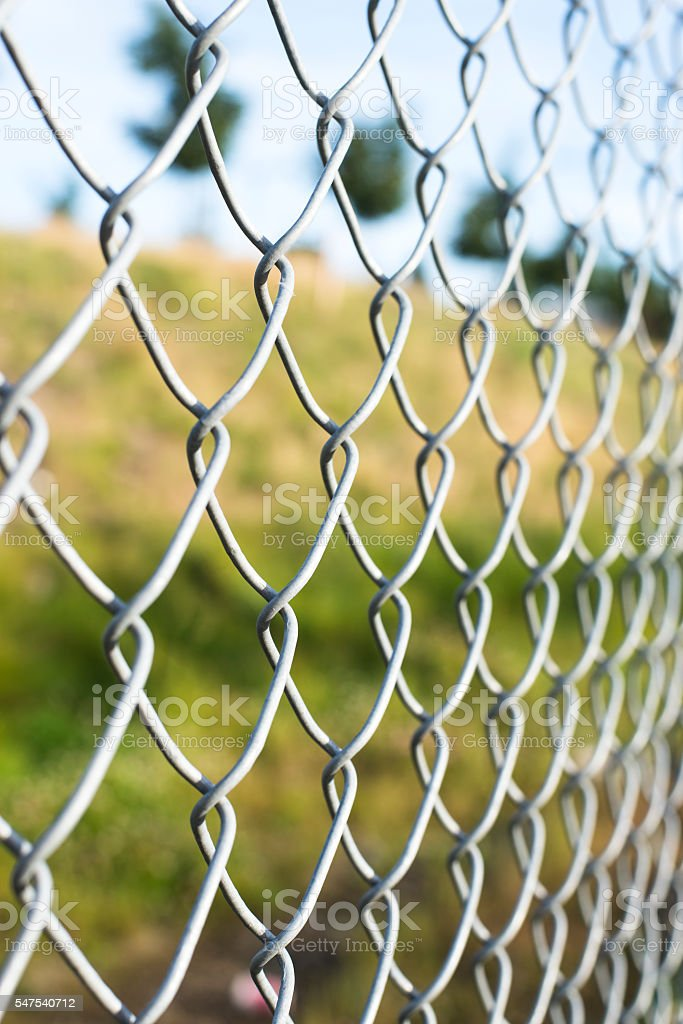 metal fence stock photo