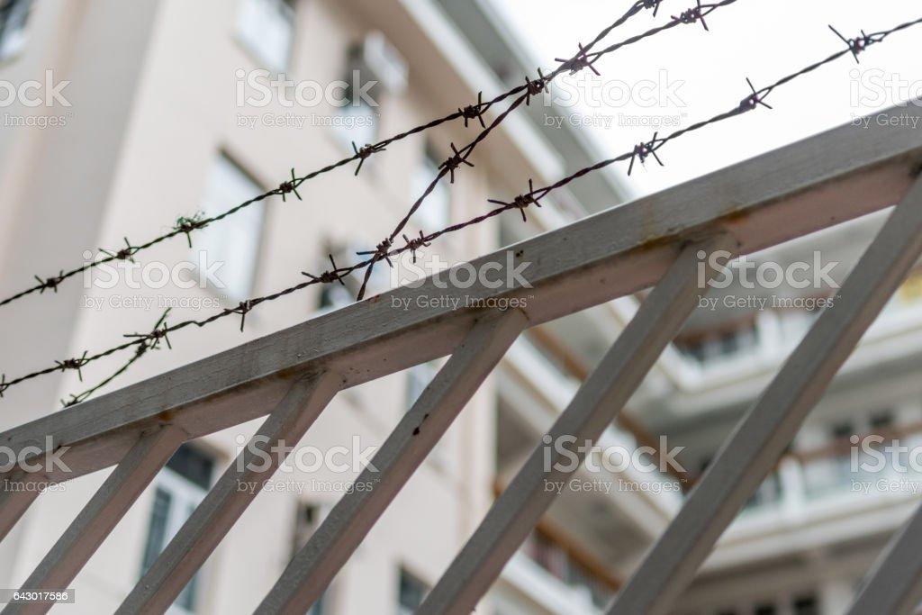 Metal Fence Spike stock photo