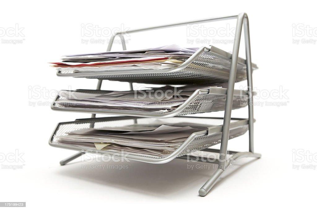 Metal Filing Tray stock photo
