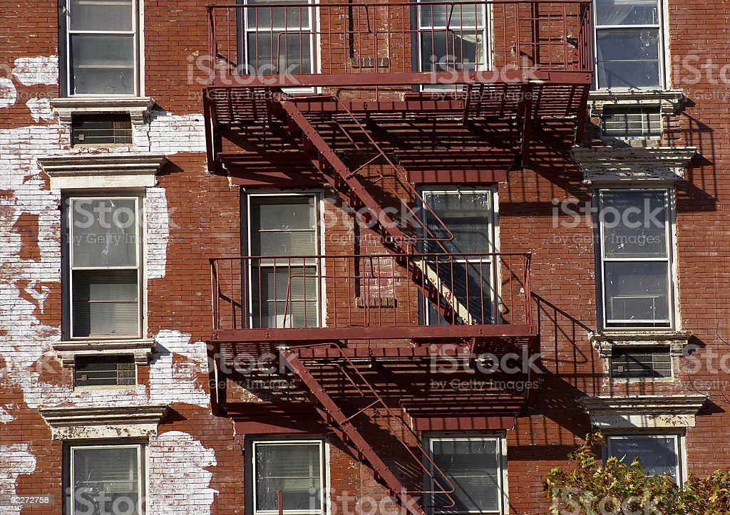Metal fire escape royalty-free stock photo