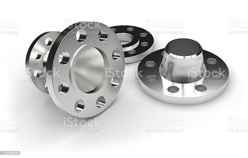 Metal flanges royalty-free stock photo