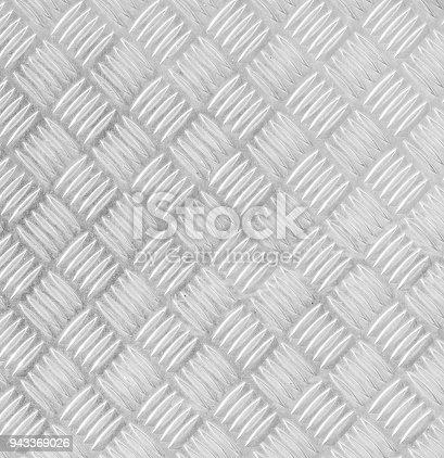 istock Metal floor plate with diamond pattern. 943369026