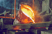 Metal foundry, factory in city Cesis, Latvia, 2011.