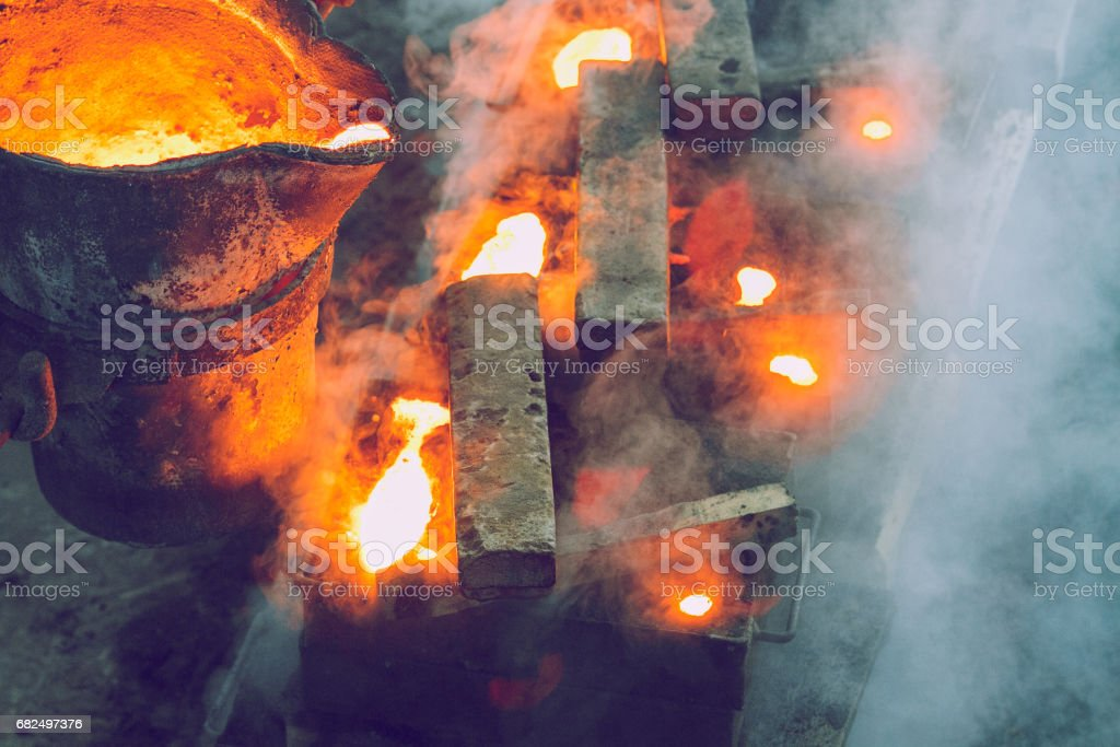 Metal foundry, factory in city Cesis, Latvia, 2011. royalty-free stock photo