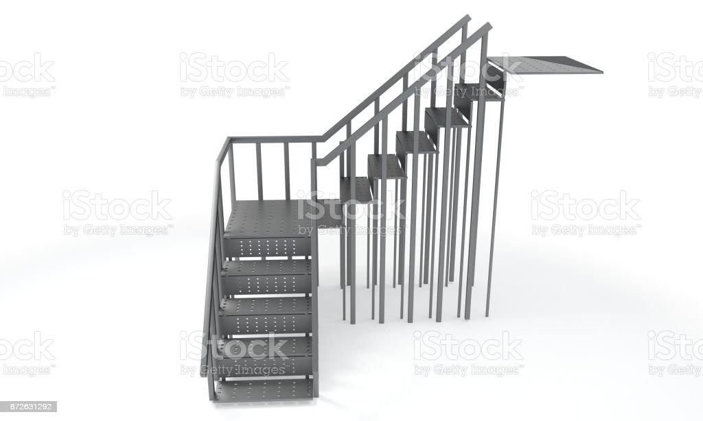 Fotografía de Escalera De Estructura Metálica Sobre Un Fondo Blanco ...