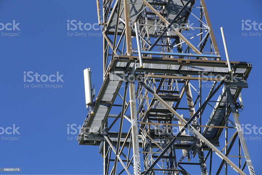 Metal frame of telecommunications tower royalty-free stock photo