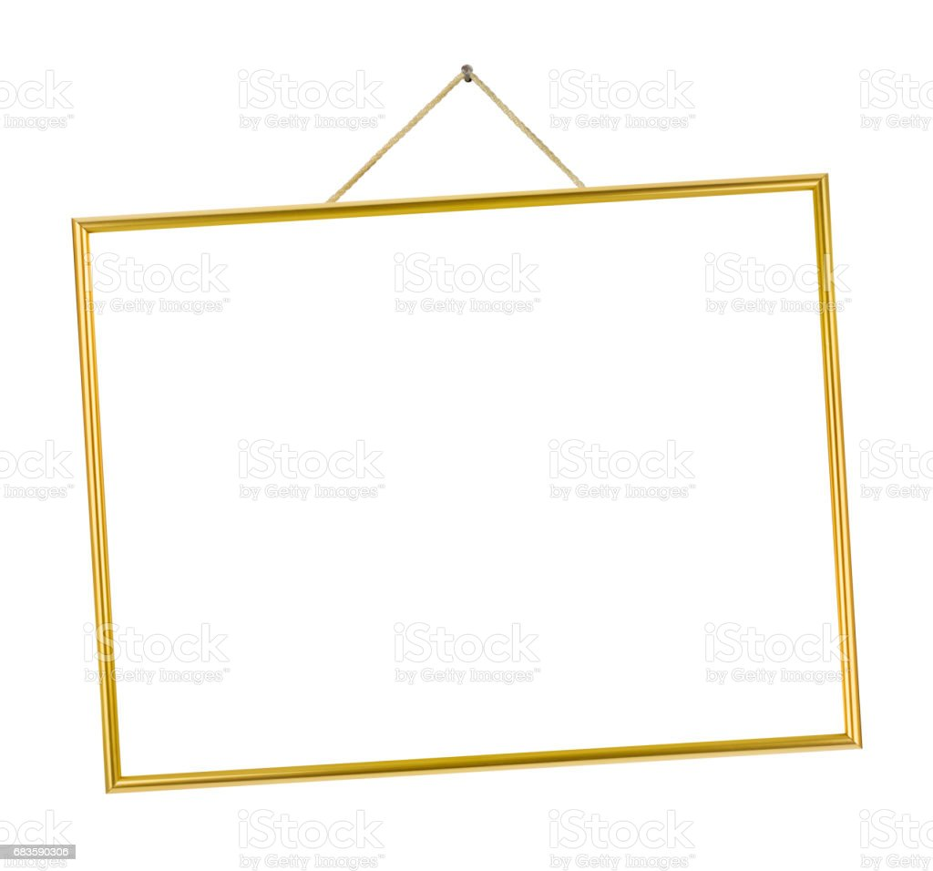 Metal frame on string stock photo