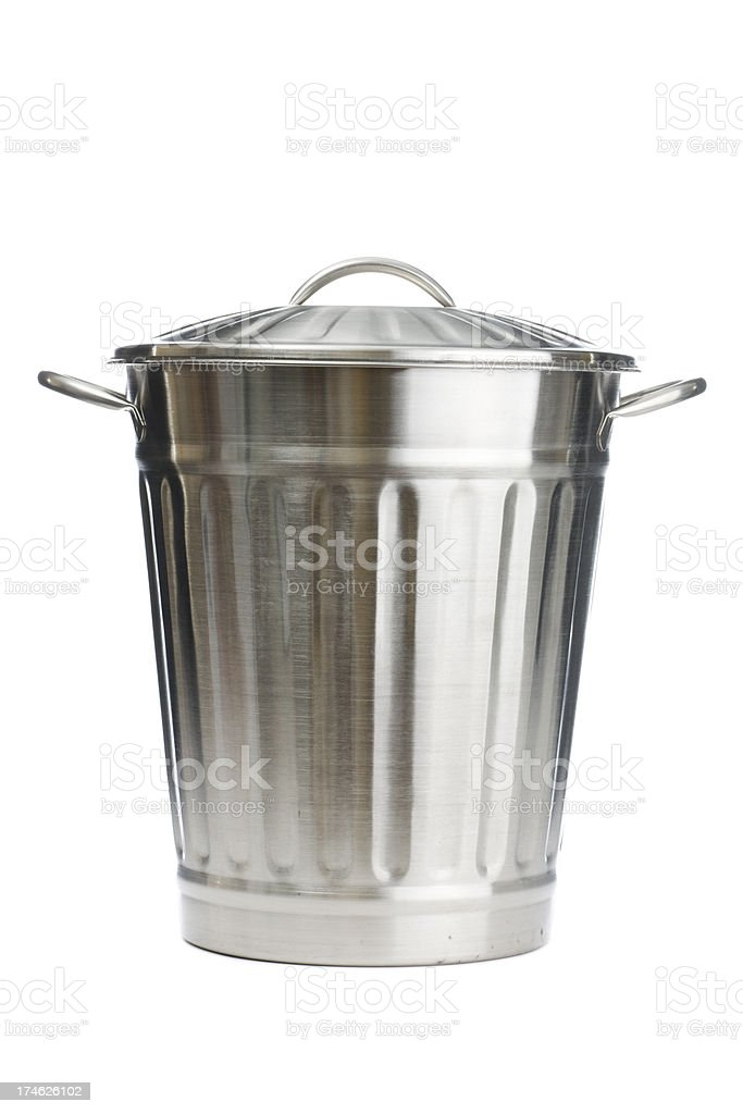 Metal Garbage Can stock photo