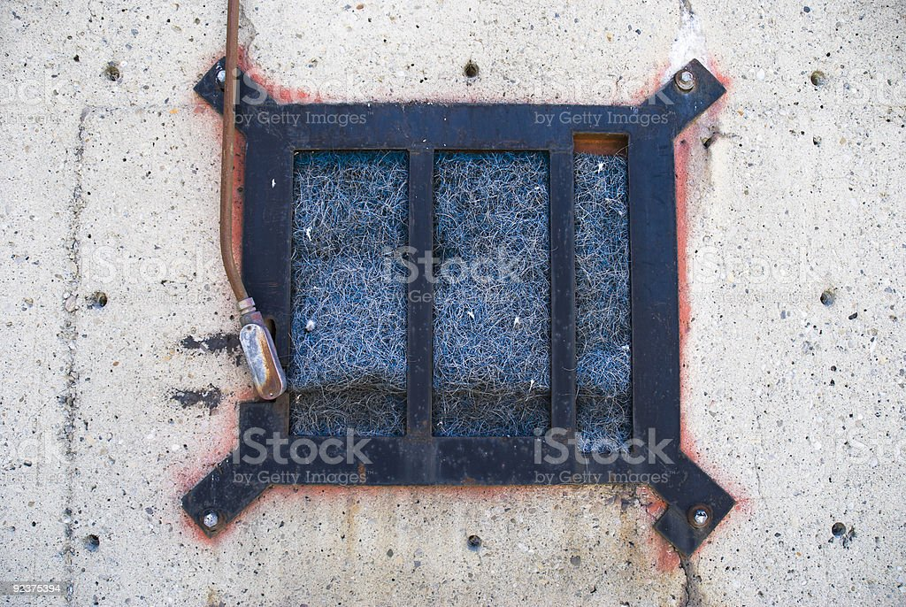 Metal Gate And Insulation royalty-free stock photo