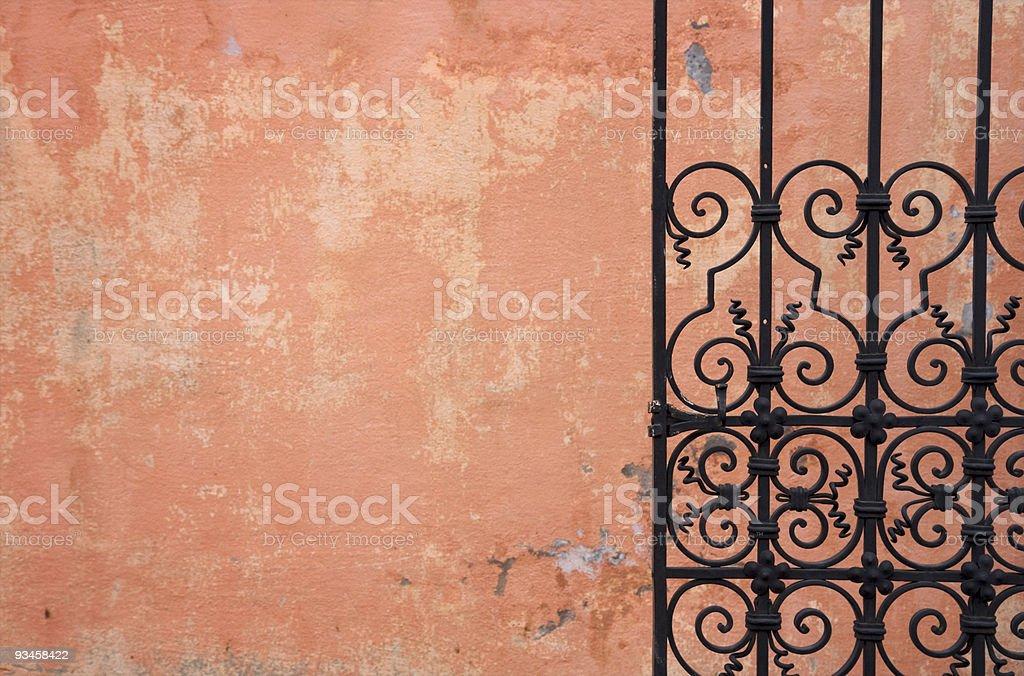 Metal gate background royalty-free stock photo