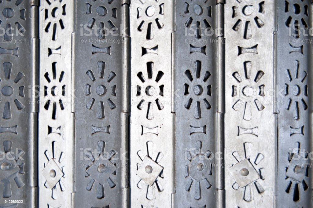 Metal Gate in Hong Kong stock photo