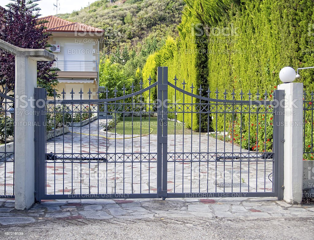 Metal Gate stock photo
