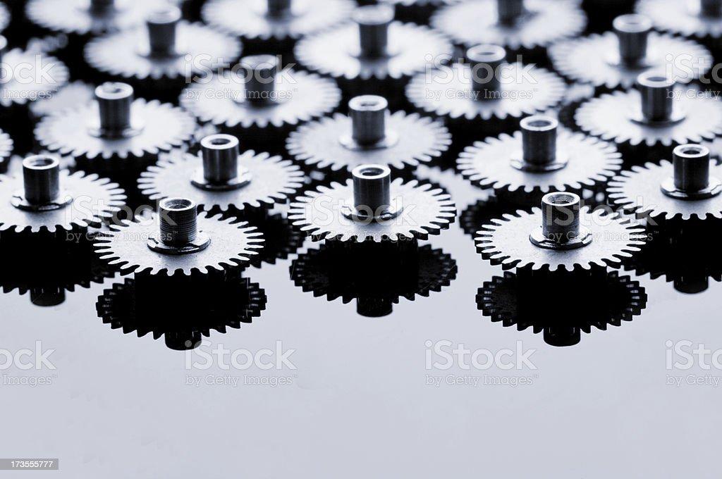 metal gears royalty-free stock photo
