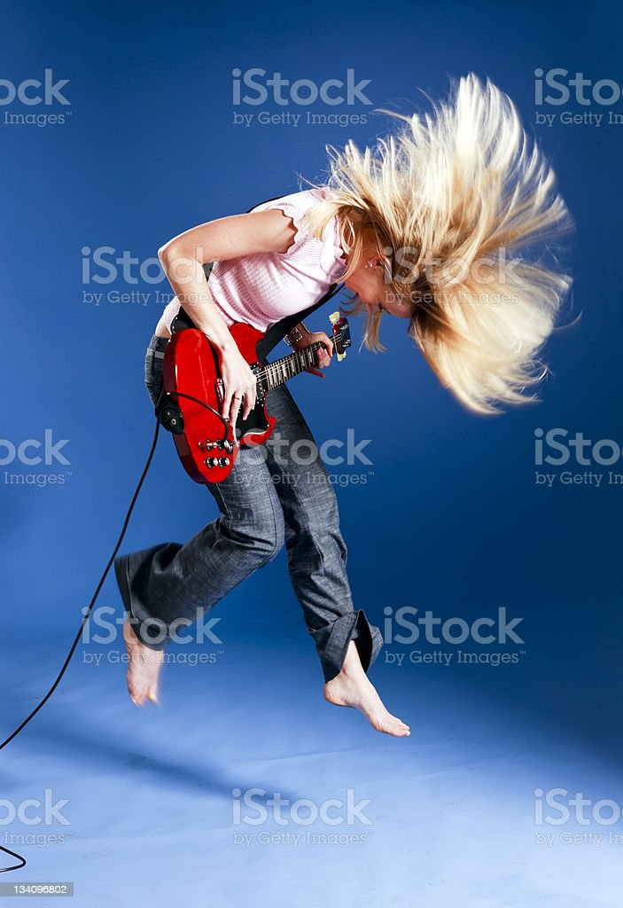 Metal girl stock photo