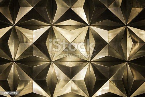 istock Metal golden wall 688575380