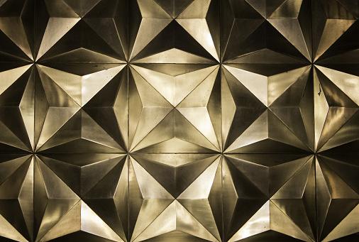 Metal golden wall