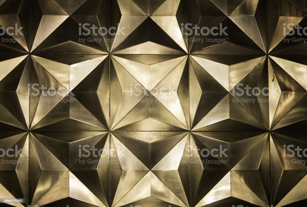 Metal golden wall stock photo