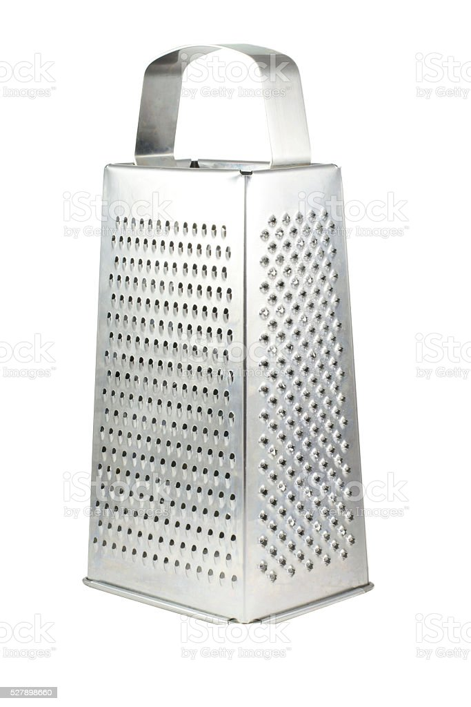Metal grater. Isolated on white background stock photo