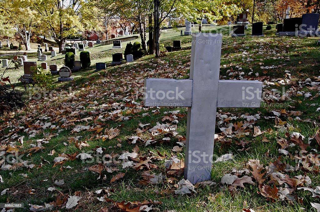Metal Graveyard Cross royalty-free stock photo