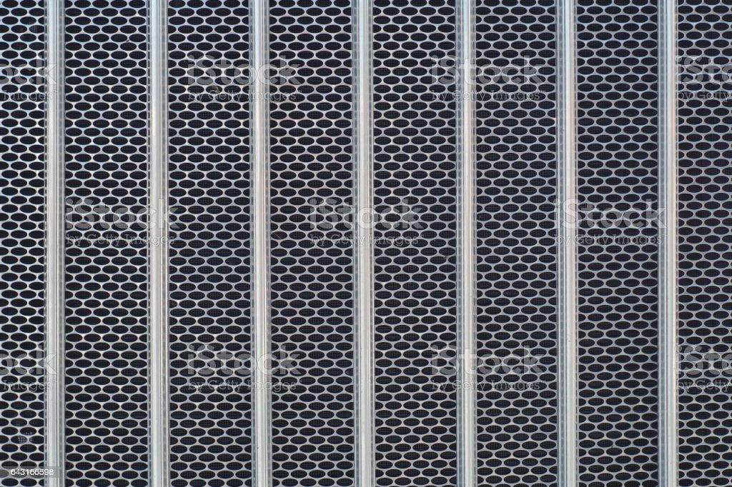 metal grid chrome truck front radiator texture stock photo