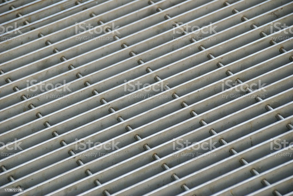Metal Grill Grate Full Frame Diagonal Background stock photo