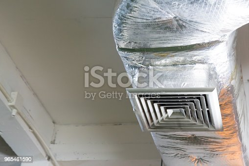 1071156490 istock photo metal grill of air duct system 965461590