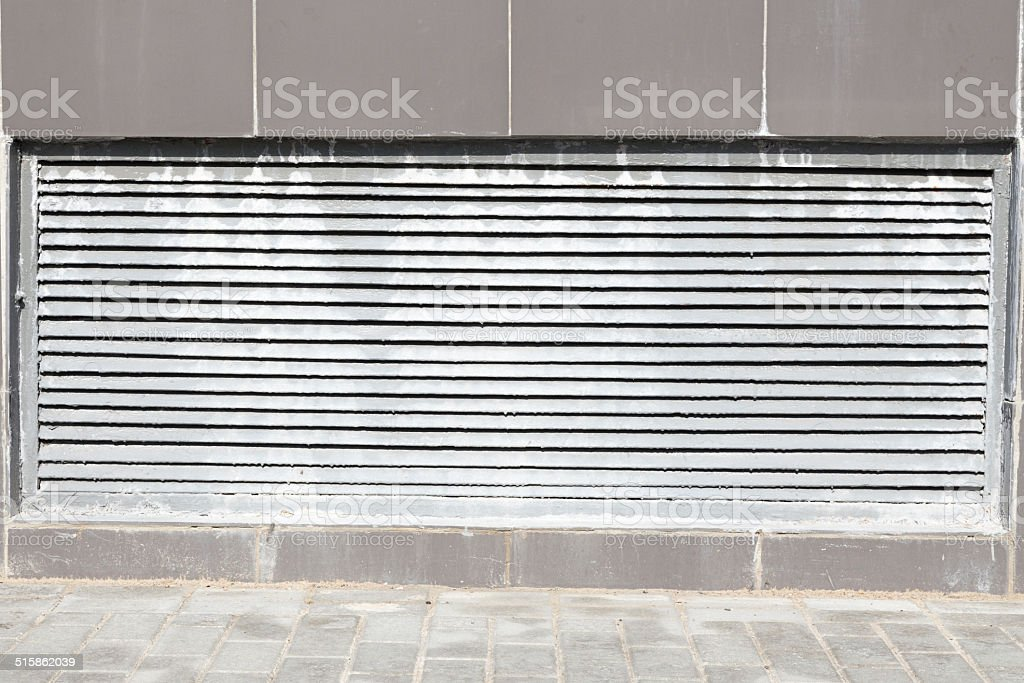 metal grille stock photo