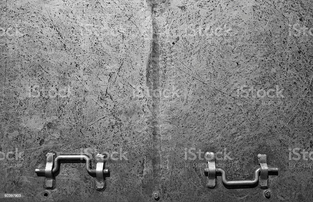 Metal hatch door stock photo