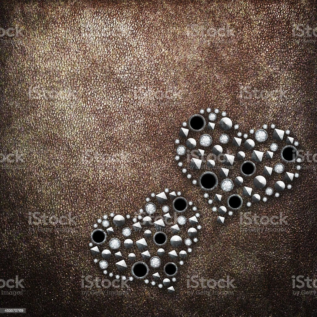 Metal hearts royalty-free stock photo