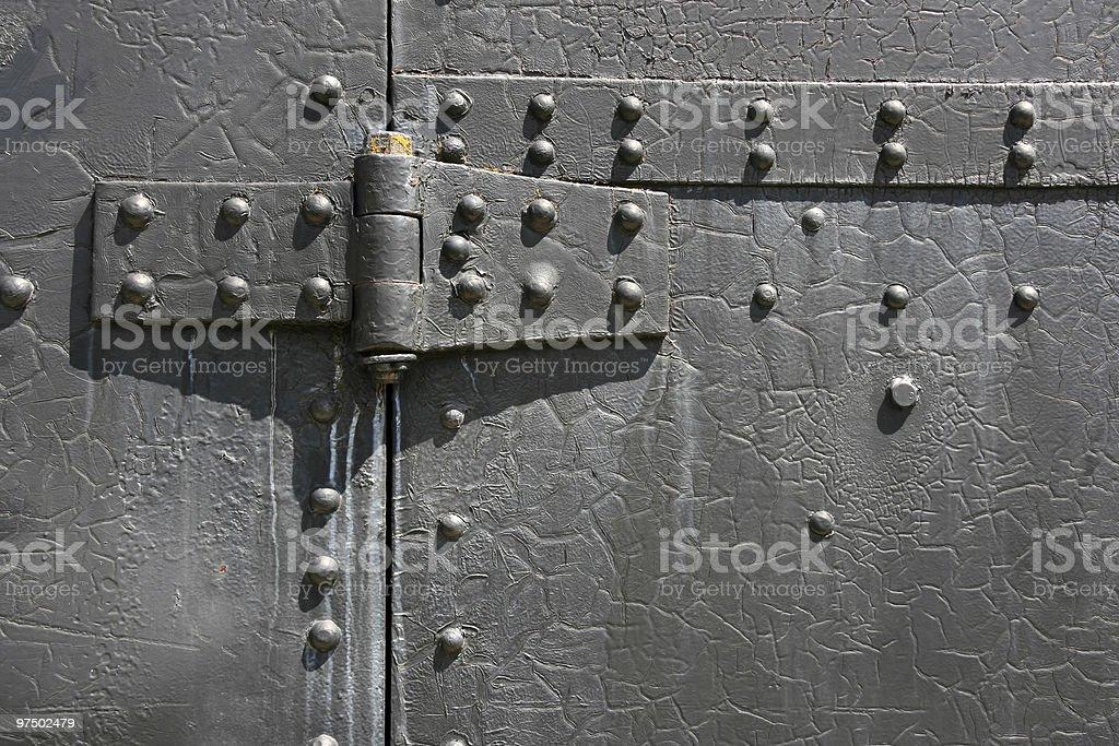Metal hinge royalty-free stock photo