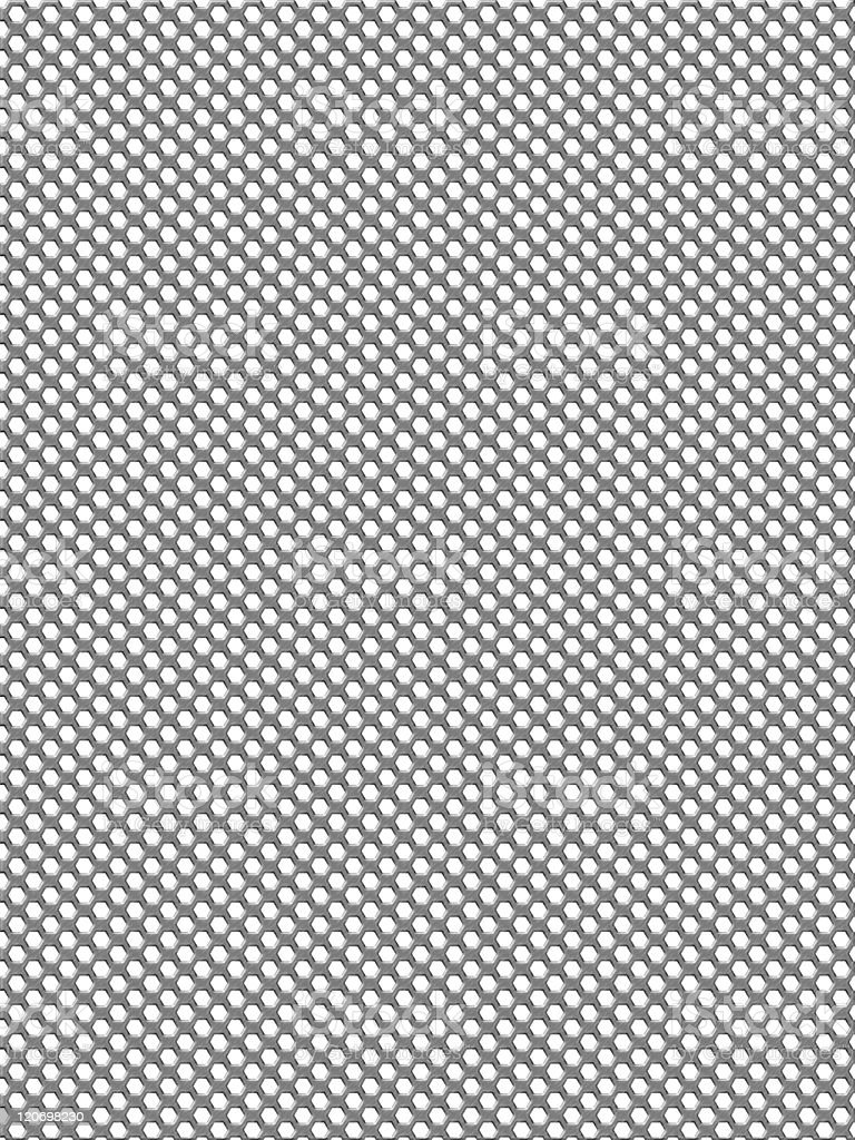 Metal hole perforated grid background stock photo