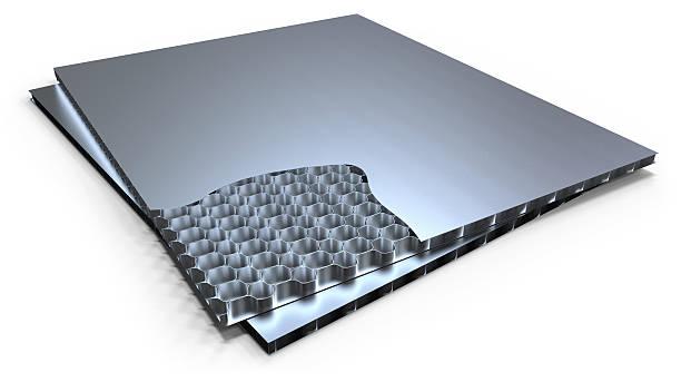 Metal honeycomb panel stock photo