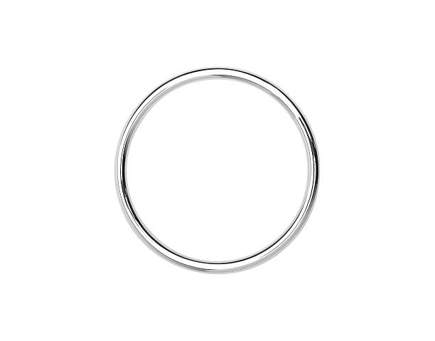 Metal hoop isolated on white stock photo