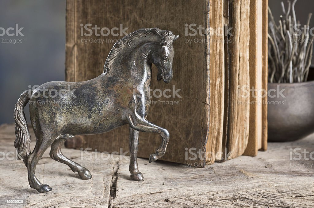 metal horse Model stock photo