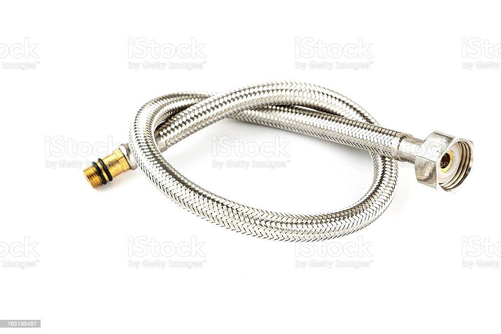 metal hose stock photo