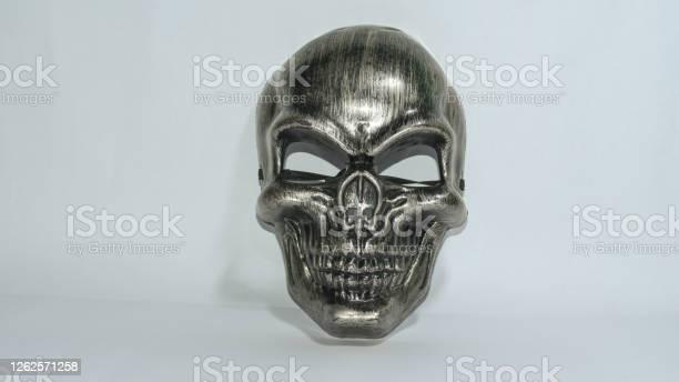 Metal human skull mask for using in entertainment purpose on white picture id1262571258?b=1&k=6&m=1262571258&s=612x612&h=rclge03azad5yczqrvxe3fmq  oskabtkfnamsqwpq4=