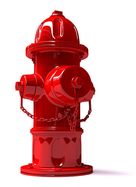 3D Metal Hydrant - Front view  fire hydrant stock pictures, royalty-free photos & images