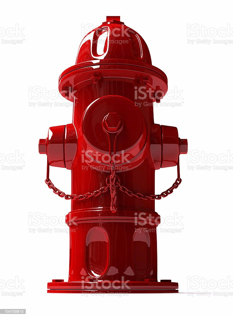 3D Metal Hydrant stock photo