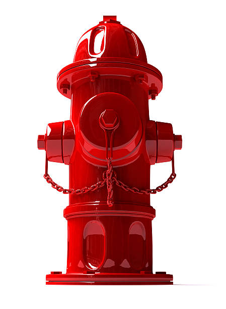 3D Metal Hydrant  fire hydrant stock pictures, royalty-free photos & images