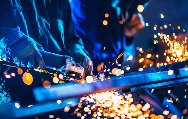 Industria metálica rutina. - foto de stock