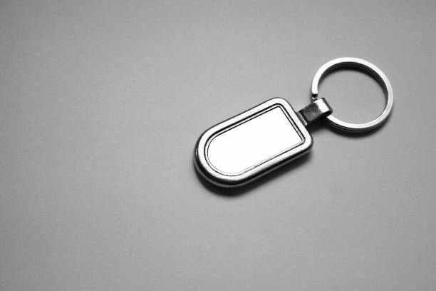 metal keychain mockup - vectors stock pictures, royalty-free photos & images
