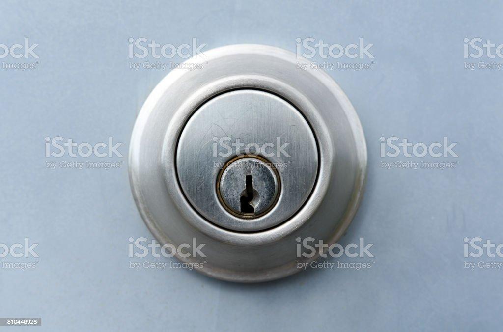 Metal Keyed Lock stock photo