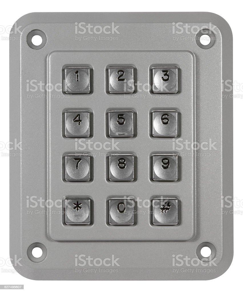Metal Keypad stock photo
