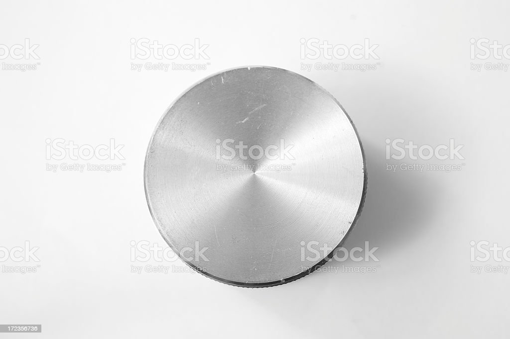 Metal knob in black and white royalty-free stock photo