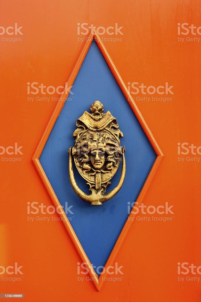 Metal knocker royalty-free stock photo
