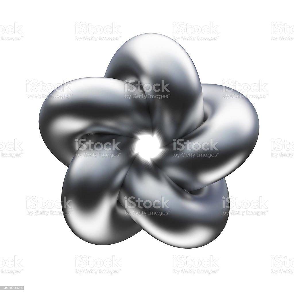 metal knot stock photo