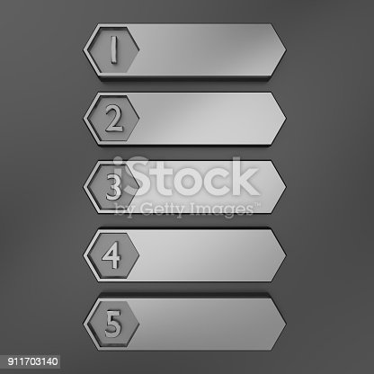 istock Metal layout design. 3D rendering. 911703140