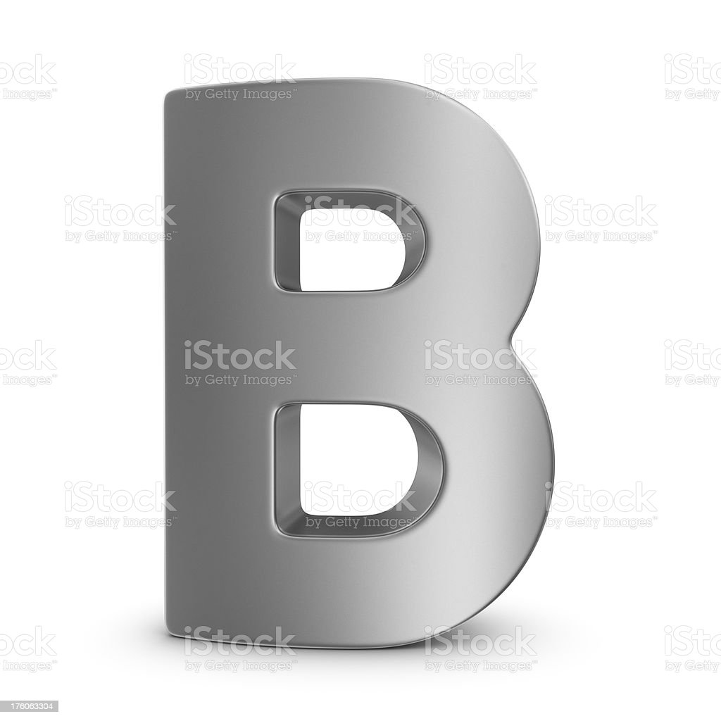 metal letter B royalty-free stock photo