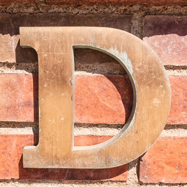 Metal Letter D stock photo