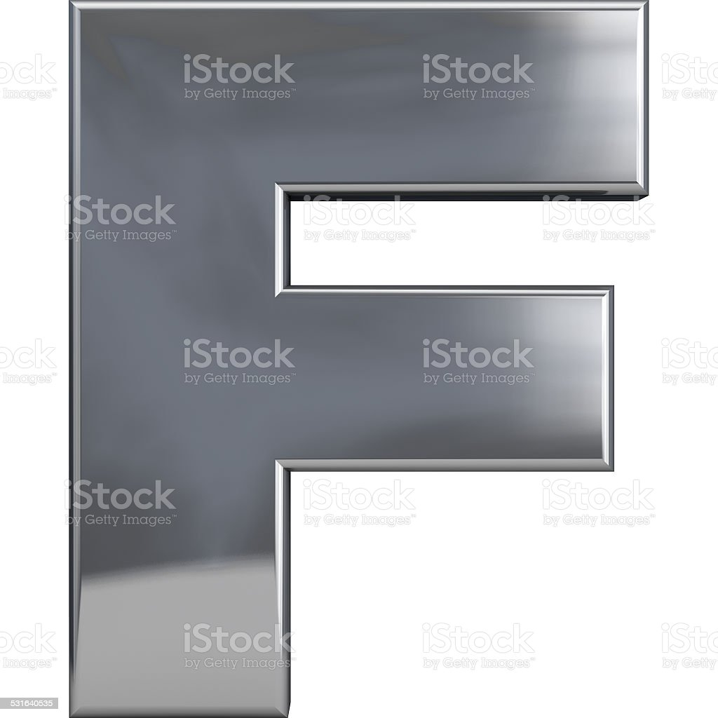 Metal Letter F stock photo